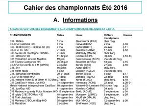 Championnats 2016