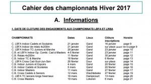 Championnats Hiver